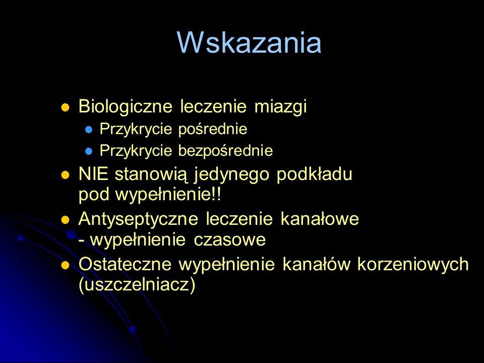 Wskazania Biologiczne leczenie miazgi