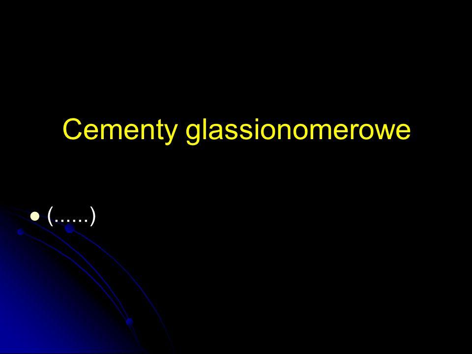 Cementy glassionomerowe