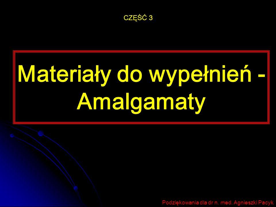 Materiały do wypełnień - Amalgamaty