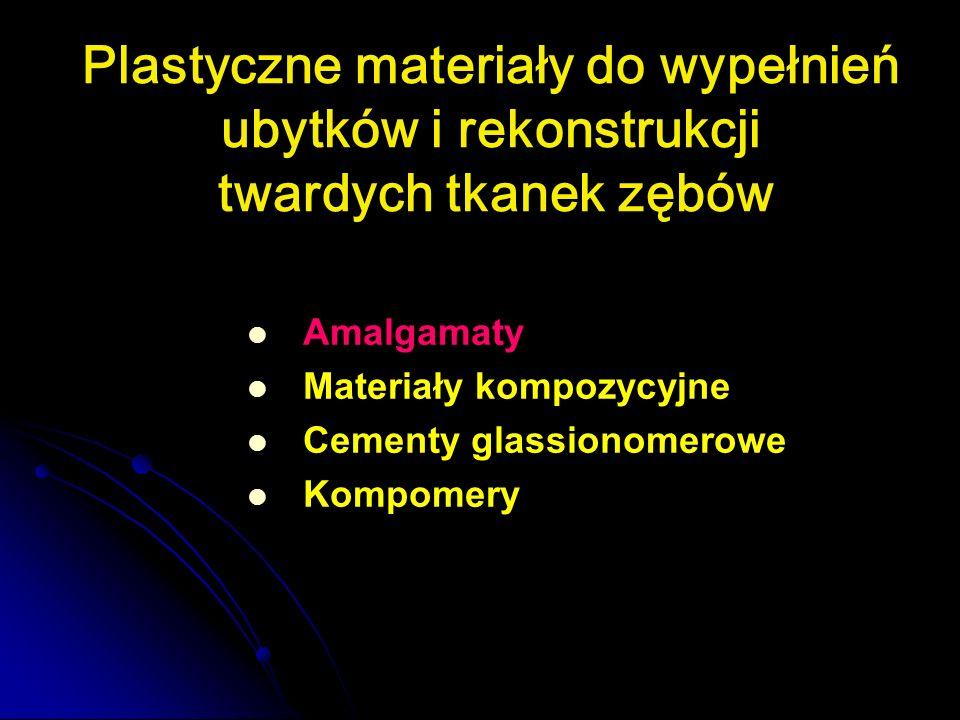 Plastyczne materiały do wypełnień ubytków i rekonstrukcji