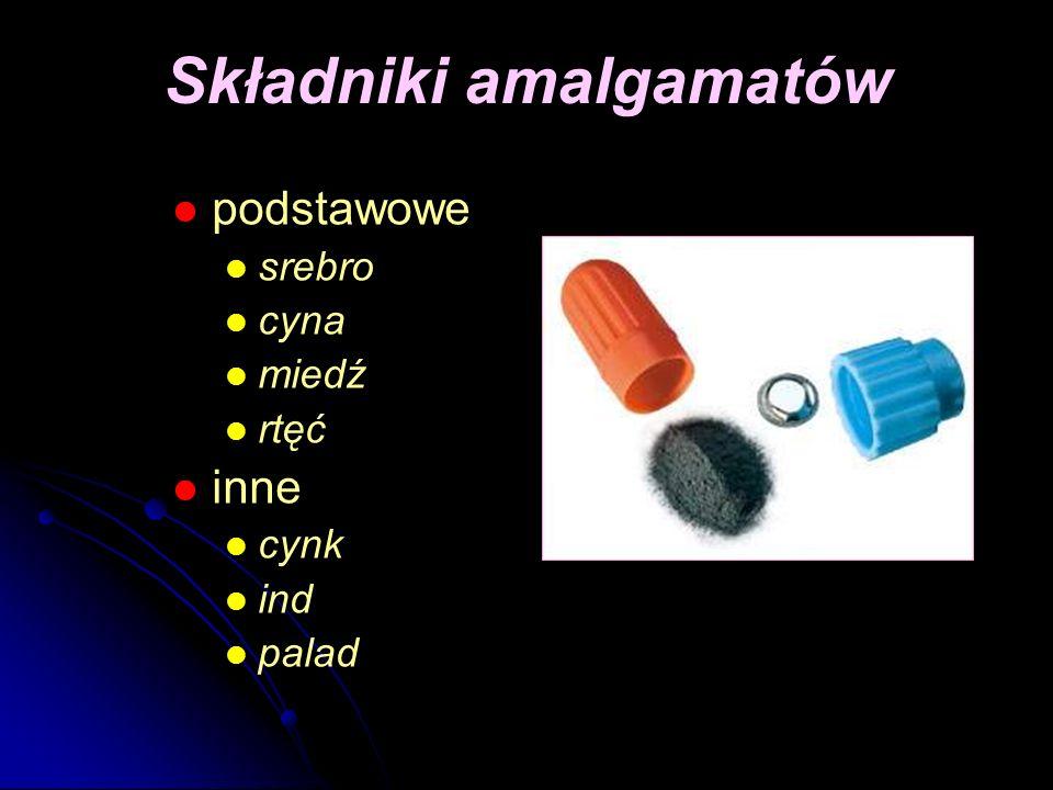 Składniki amalgamatów