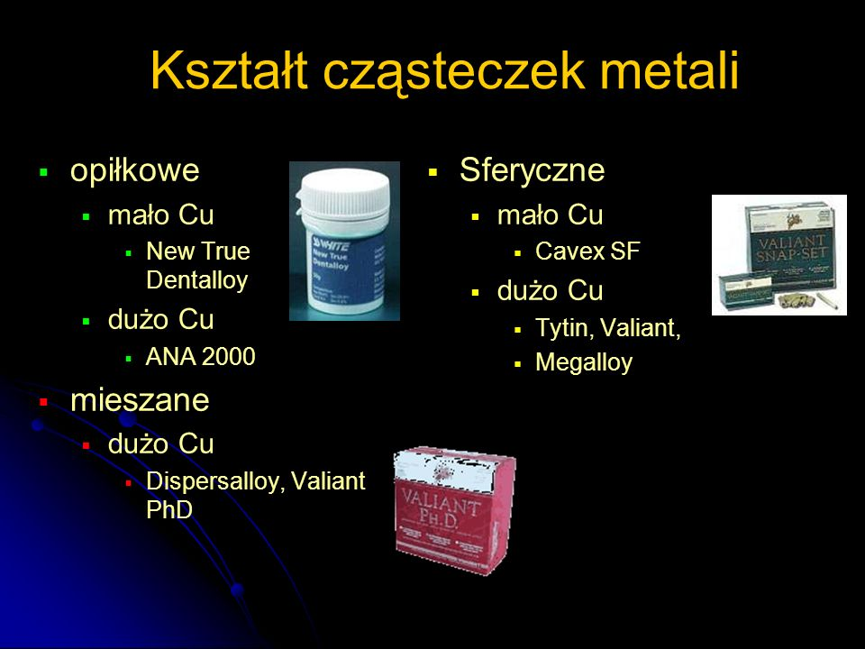Kształt cząsteczek metali