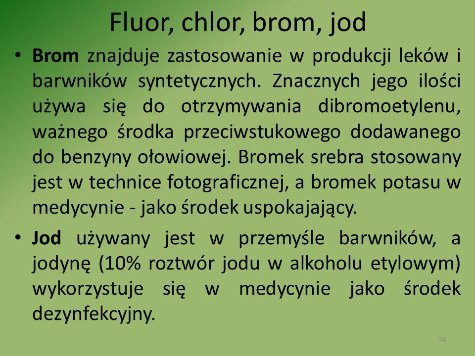 Fluor, chlor, brom, jod