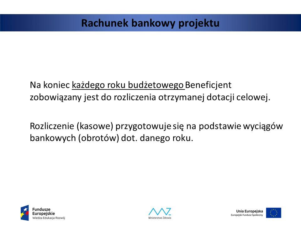 Rachunek bankowy projektu