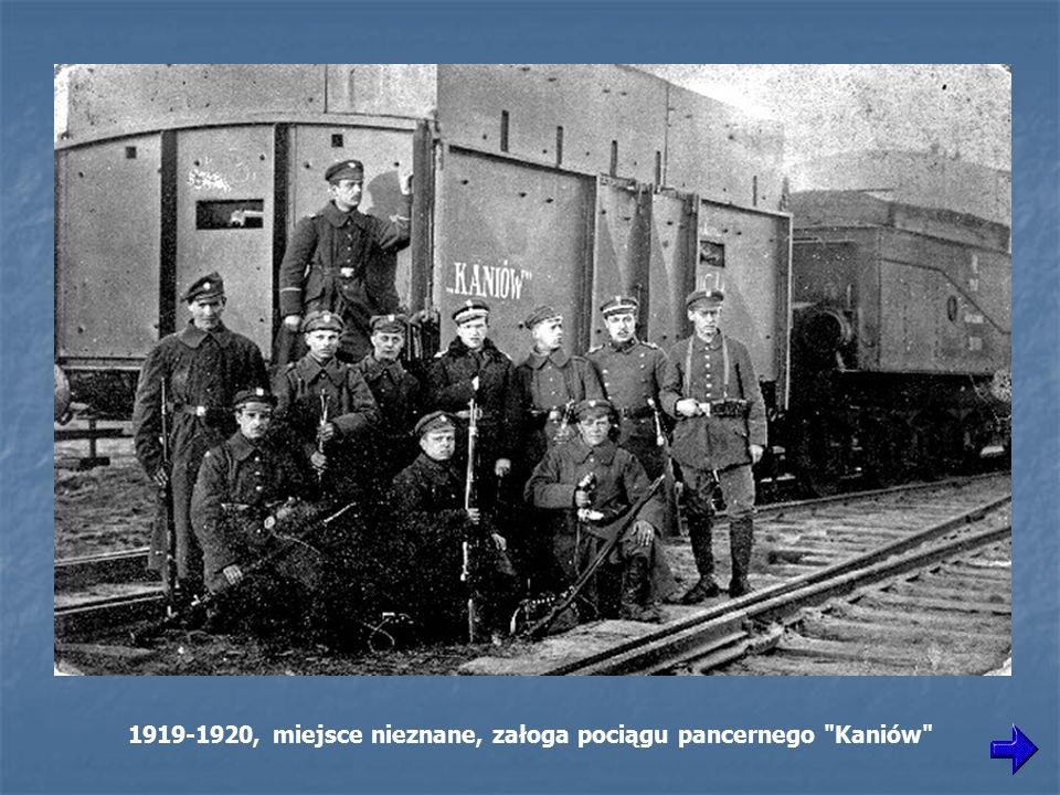 1919-1920, miejsce nieznane, załoga pociągu pancernego Kaniów