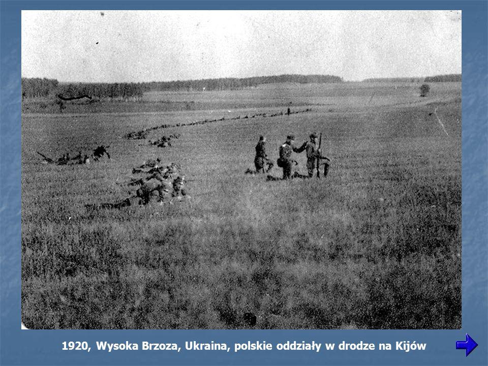 1920, Wysoka Brzoza, Ukraina, polskie oddziały w drodze na Kijów
