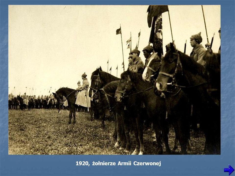 1920, żołnierze Armii Czerwonej