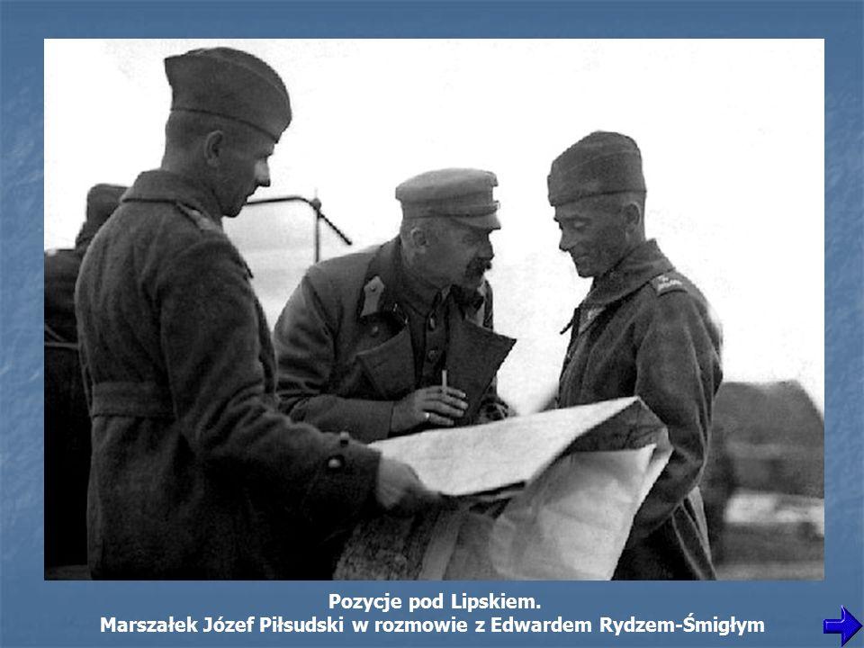 Marszałek Józef Piłsudski w rozmowie z Edwardem Rydzem-Śmigłym