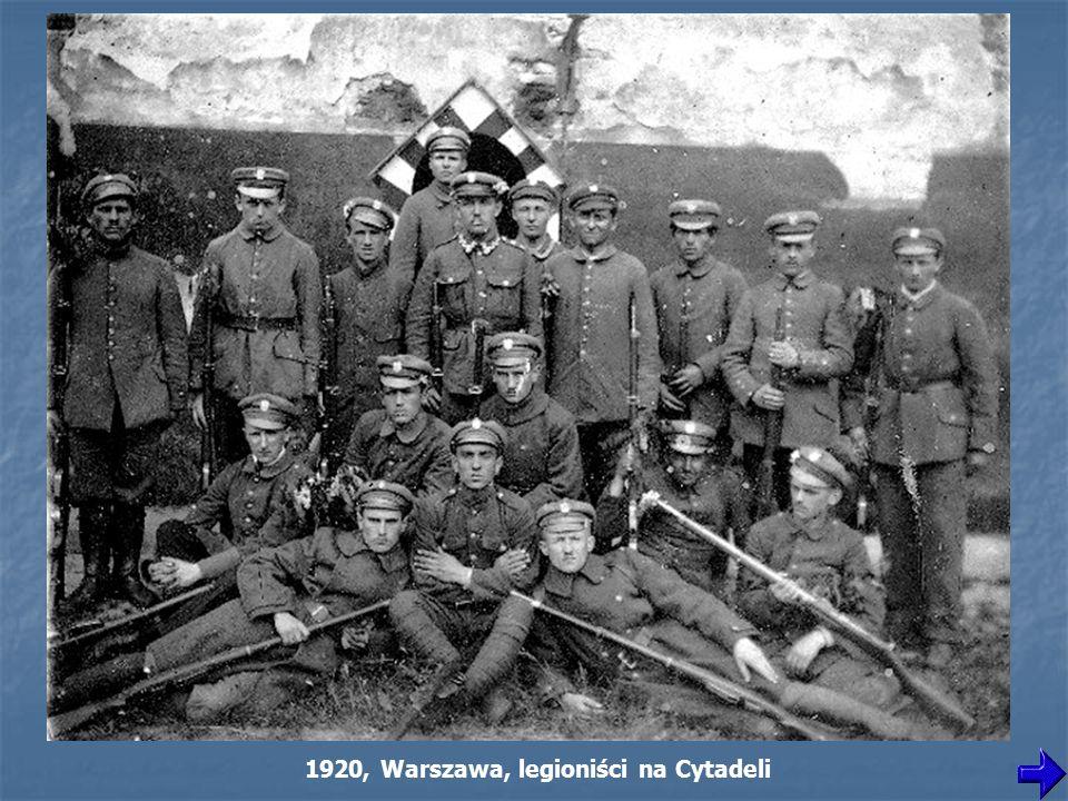 1920, Warszawa, legioniści na Cytadeli