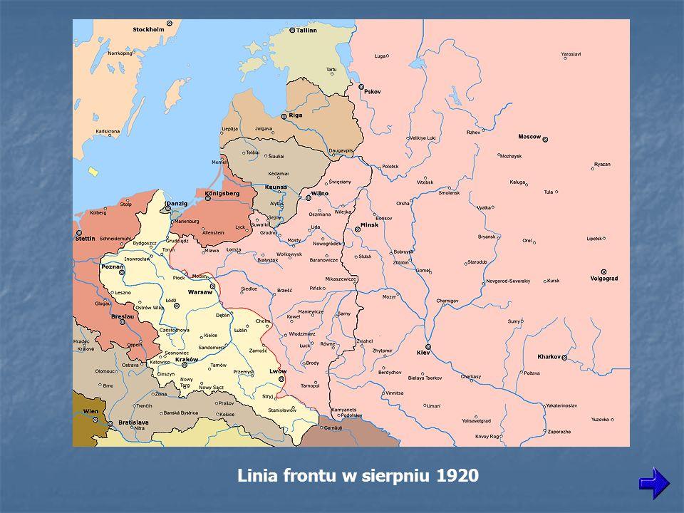 Linia frontu w sierpniu 1920