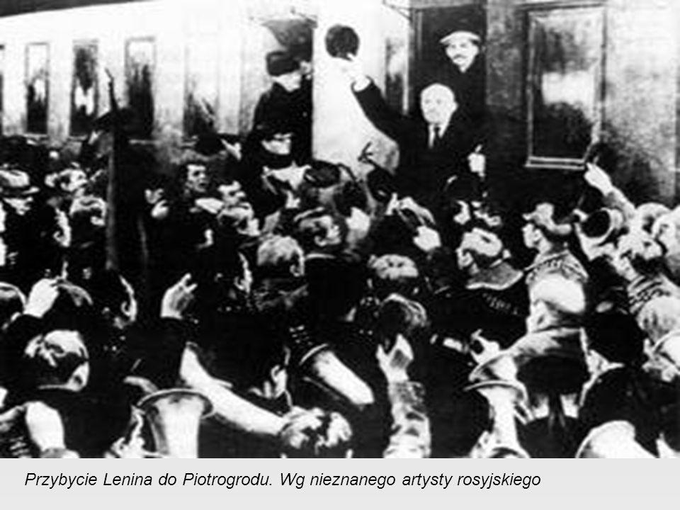 Przybycie Lenina do Piotrogrodu. Wg nieznanego artysty rosyjskiego
