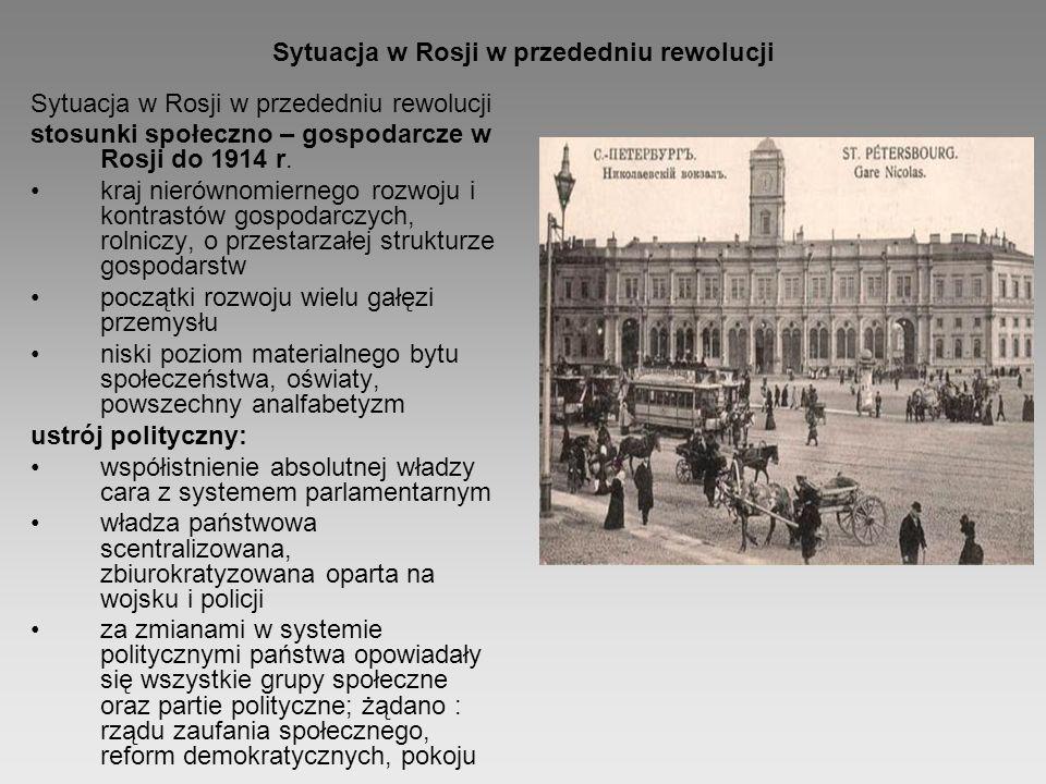 Sytuacja w Rosji w przededniu rewolucji