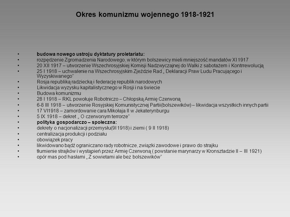 Okres komunizmu wojennego 1918-1921