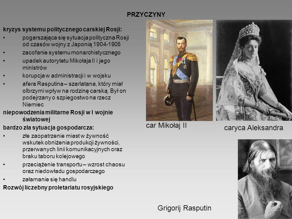 car Mikołaj II caryca Aleksandra Grigorij Rasputin PRZYCZYNY