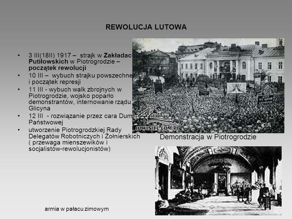 Demonstracja w Piotrogrodzie