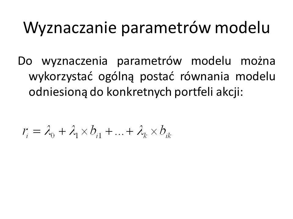 Wyznaczanie parametrów modelu