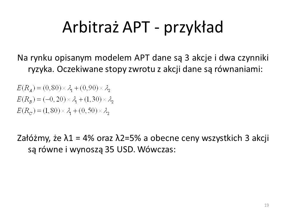 Arbitraż APT - przykład