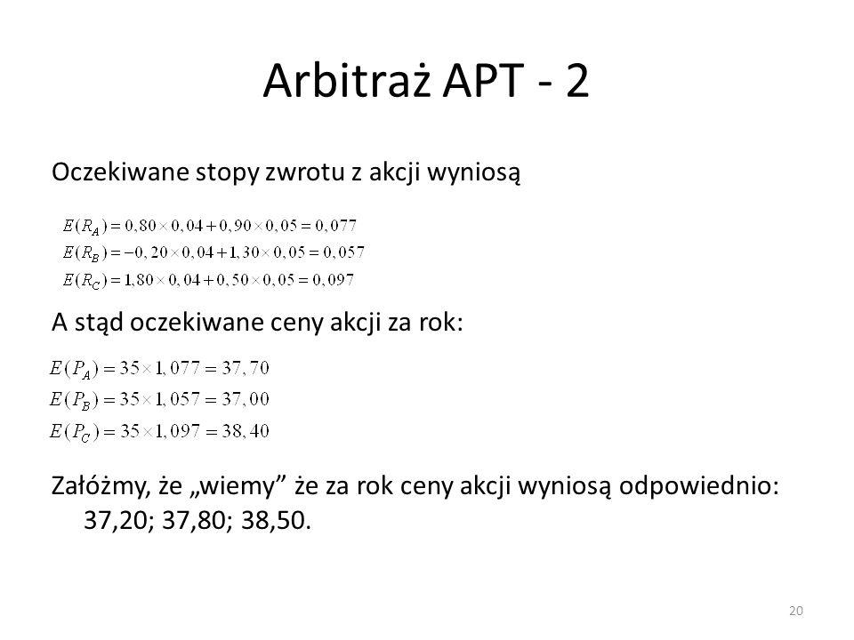 Arbitraż APT - 2