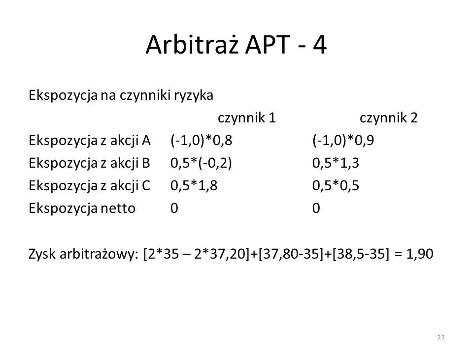 Arbitraż APT - 4