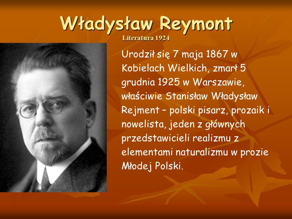 Władysław Reymont Literatura 1924