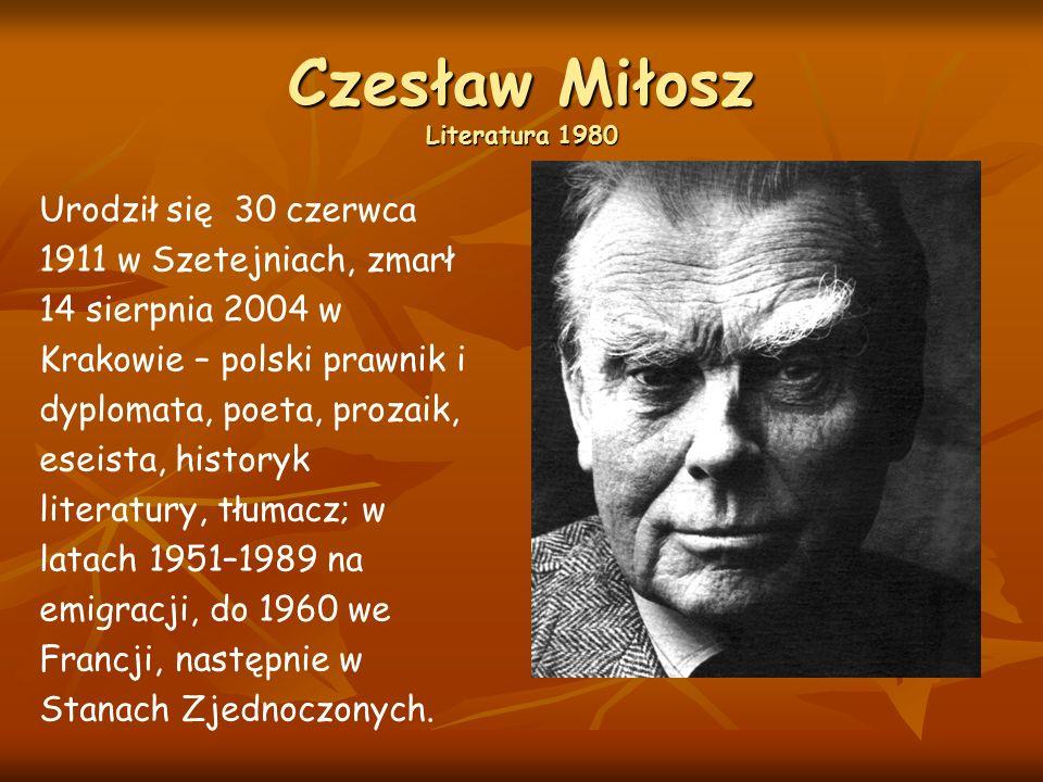 Czesław Miłosz Literatura 1980