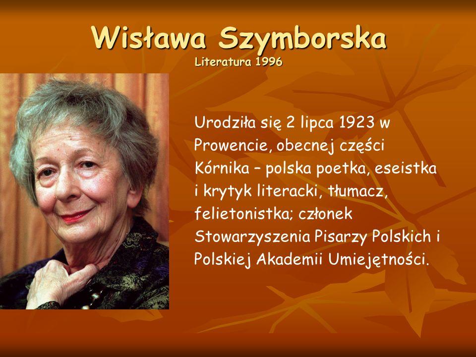 Wisława Szymborska Literatura 1996