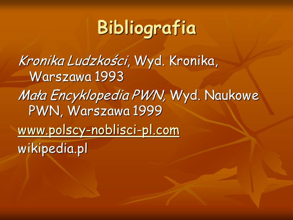Bibliografia Kronika Ludzkości, Wyd. Kronika, Warszawa 1993
