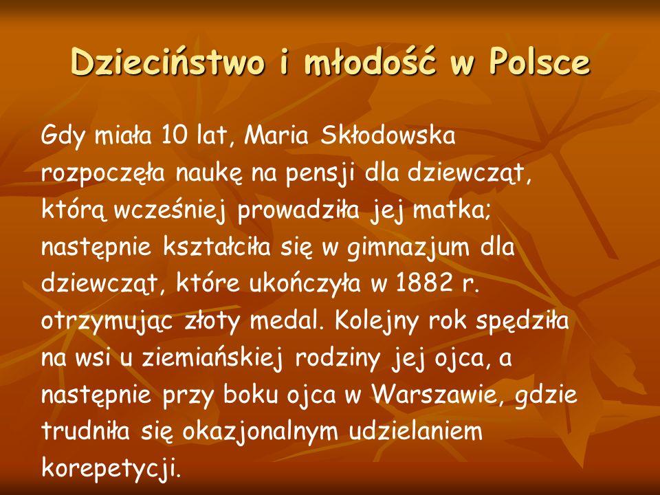 Dzieciństwo i młodość w Polsce