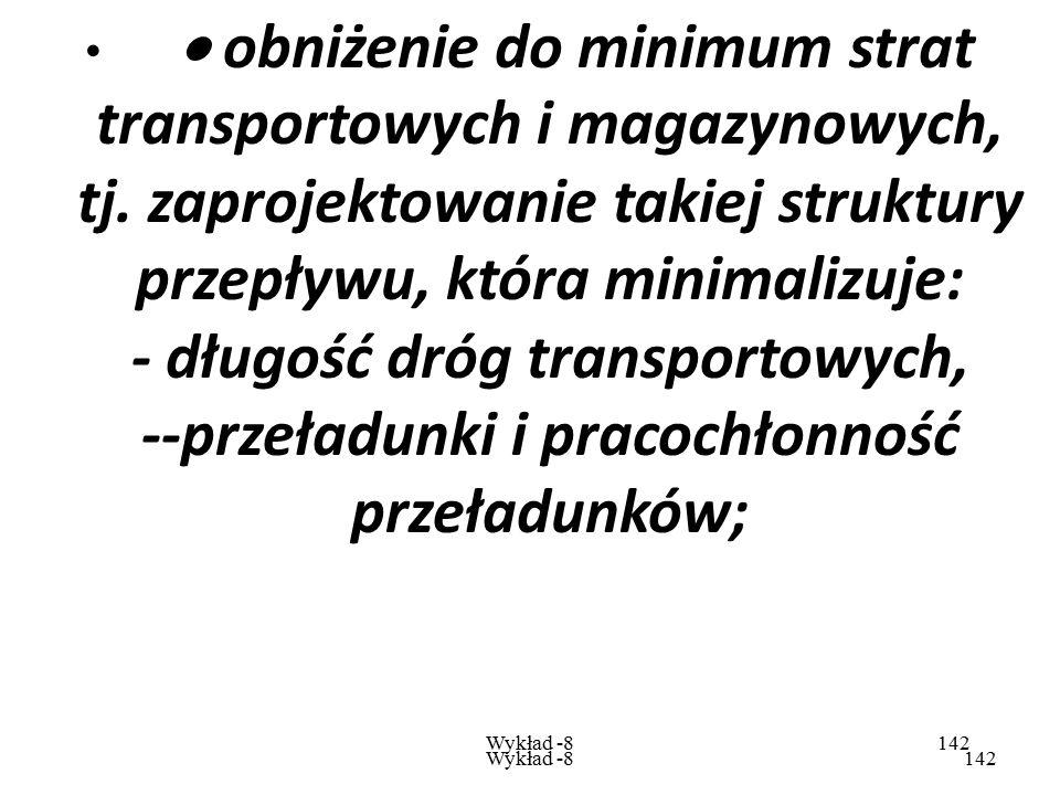 · obniżenie do minimum strat transportowych i magazynowych, tj