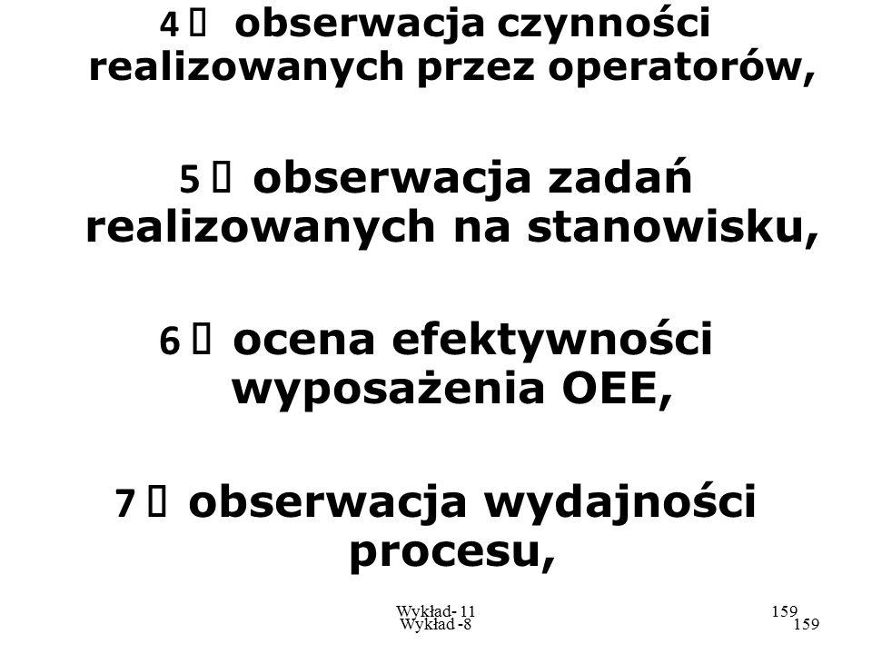 5 Ø obserwacja zadań realizowanych na stanowisku,