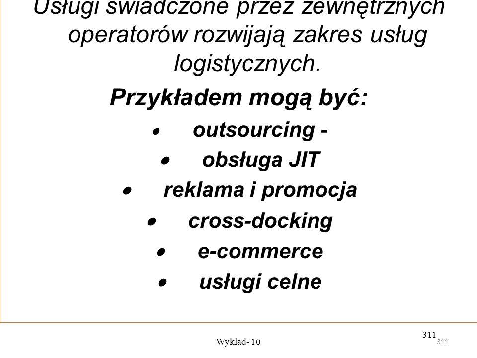 Usługi świadczone przez zewnętrznych operatorów rozwijają zakres usług logistycznych.
