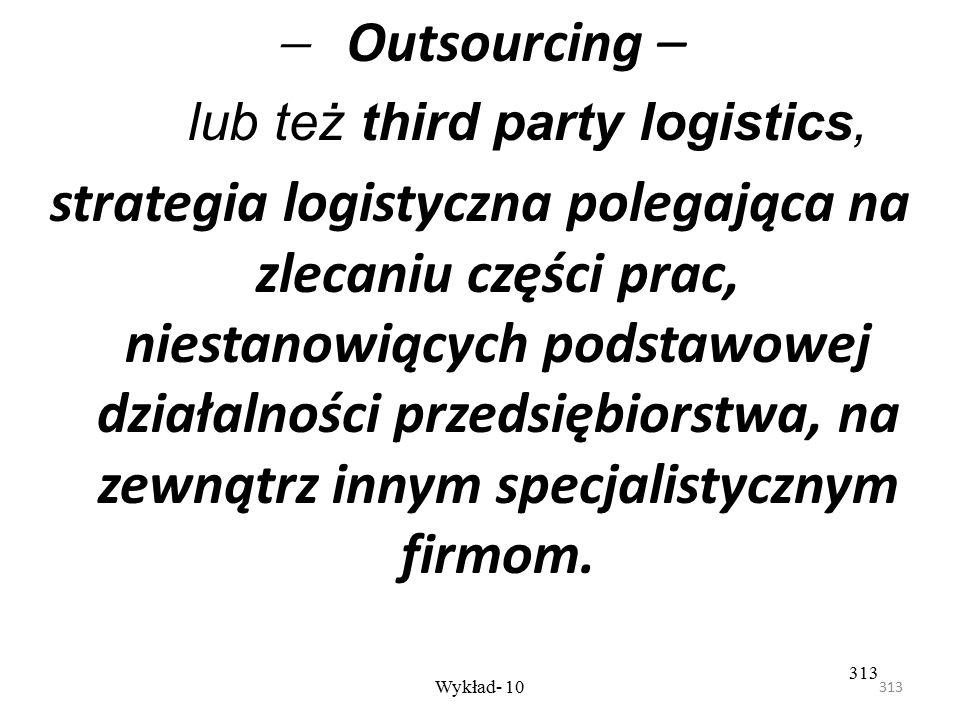 lub też third party logistics,