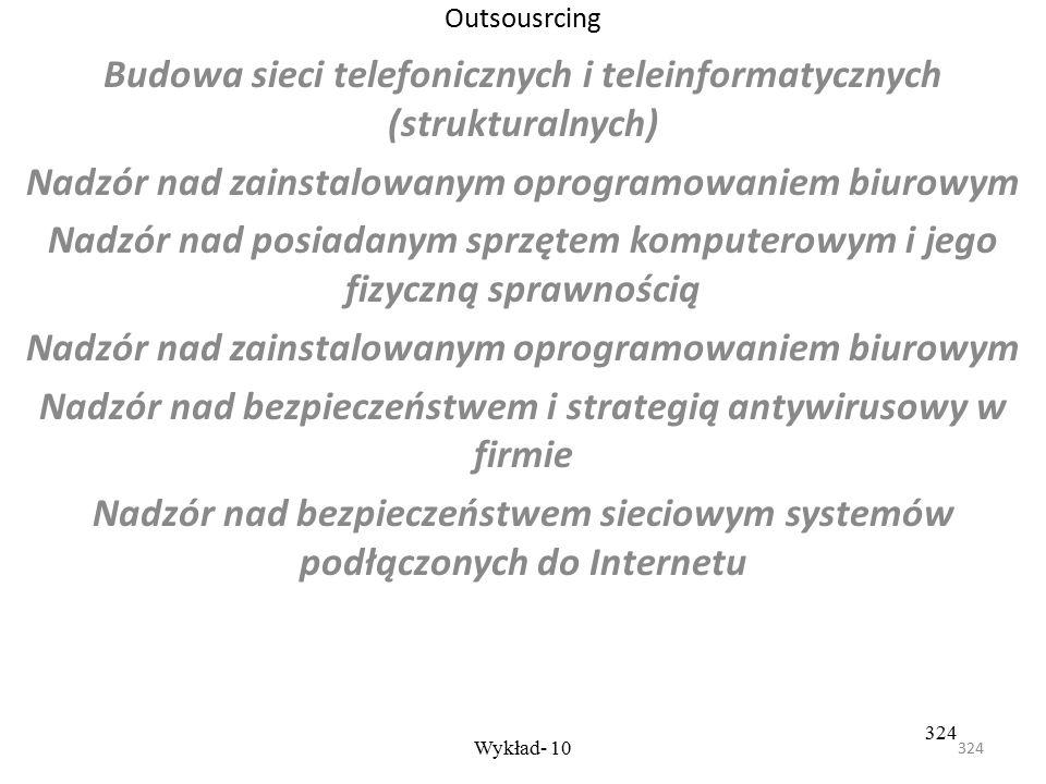 Budowa sieci telefonicznych i teleinformatycznych (strukturalnych)