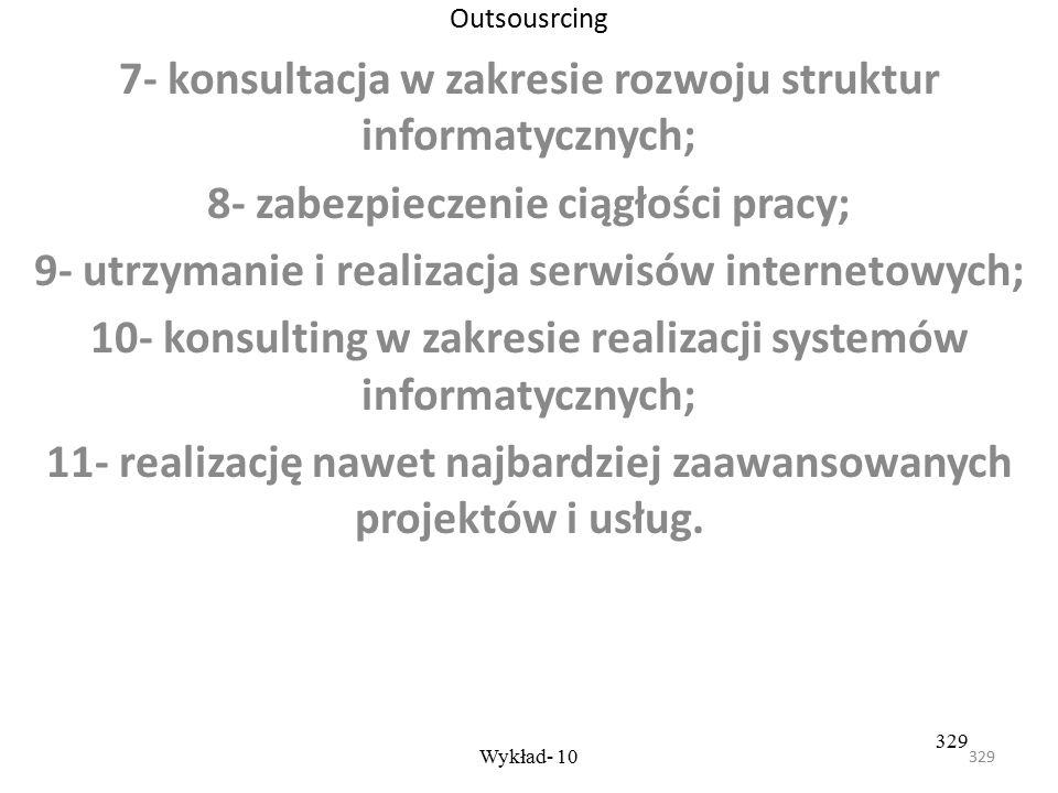 7- konsultacja w zakresie rozwoju struktur informatycznych;