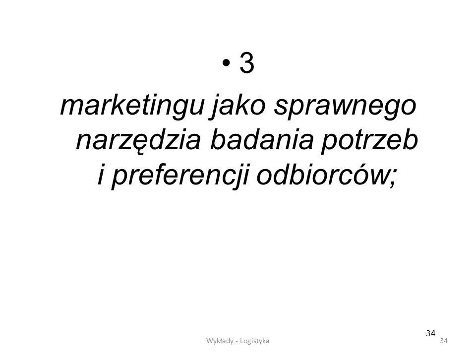 3 marketingu jako sprawnego narzędzia badania potrzeb i preferencji odbiorców; 34.