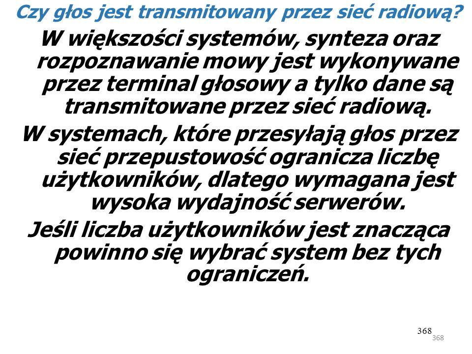 Czy głos jest transmitowany przez sieć radiową