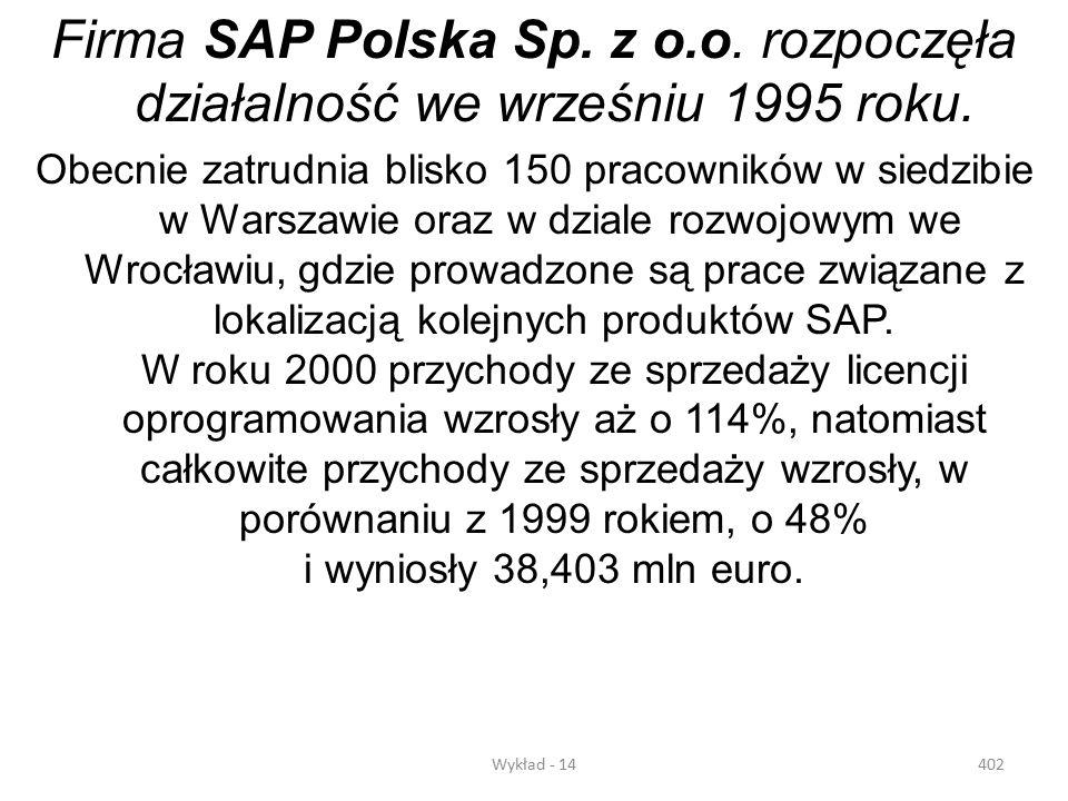 Firma SAP Polska Sp. z o.o. rozpoczęła działalność we wrześniu 1995 roku.