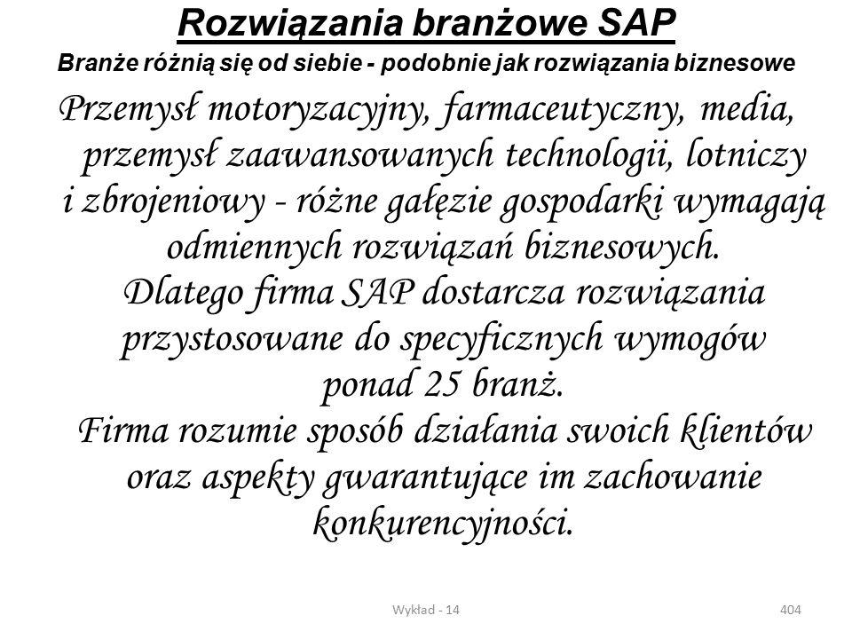 Rozwiązania branżowe SAP
