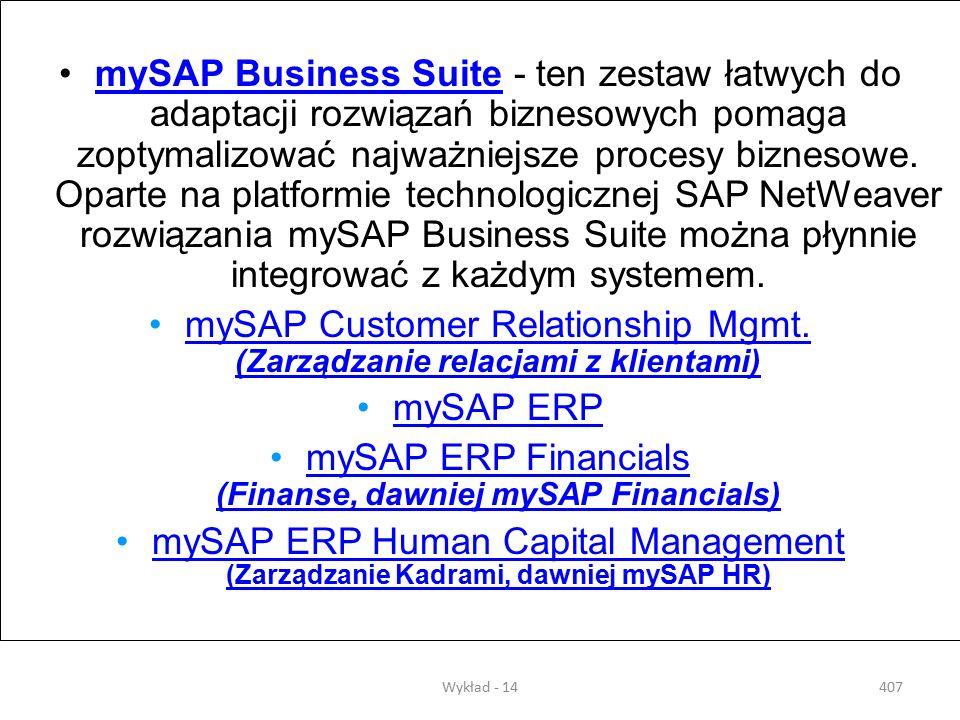 mySAP Customer Relationship Mgmt. (Zarządzanie relacjami z klientami)