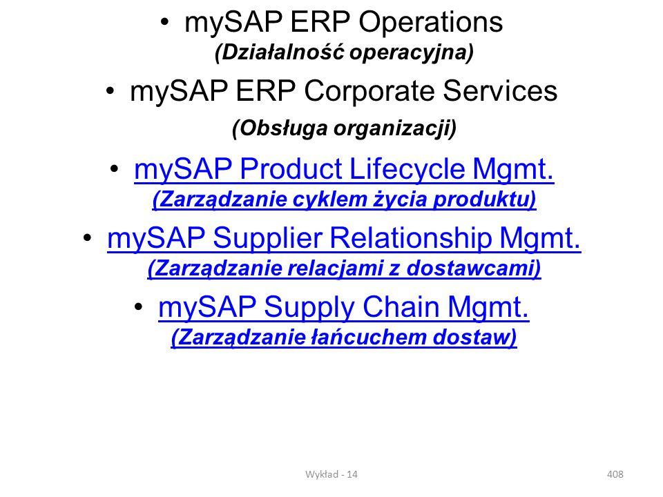 mySAP ERP Operations (Działalność operacyjna)
