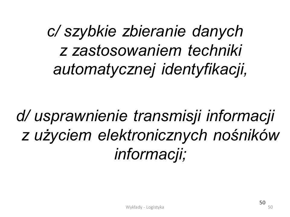 c/ szybkie zbieranie danych z zastosowaniem techniki automatycznej identyfikacji,