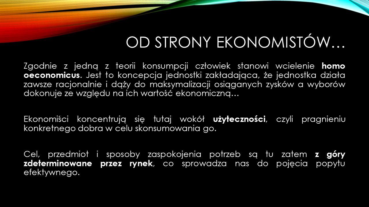 Od strony ekonomistów…