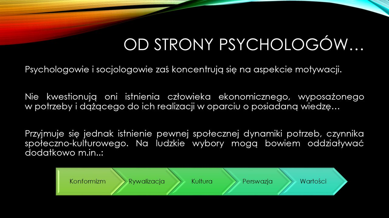 Od strony psychologów…