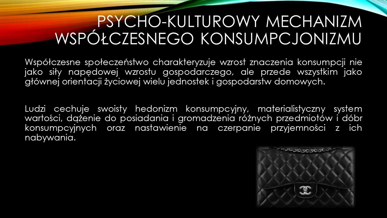 Psycho-kulturowy mechanizm współczesnego konsumpcjonizmu