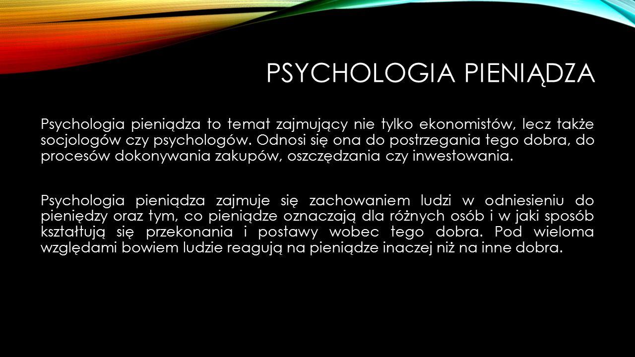 Psychologia pieniądza