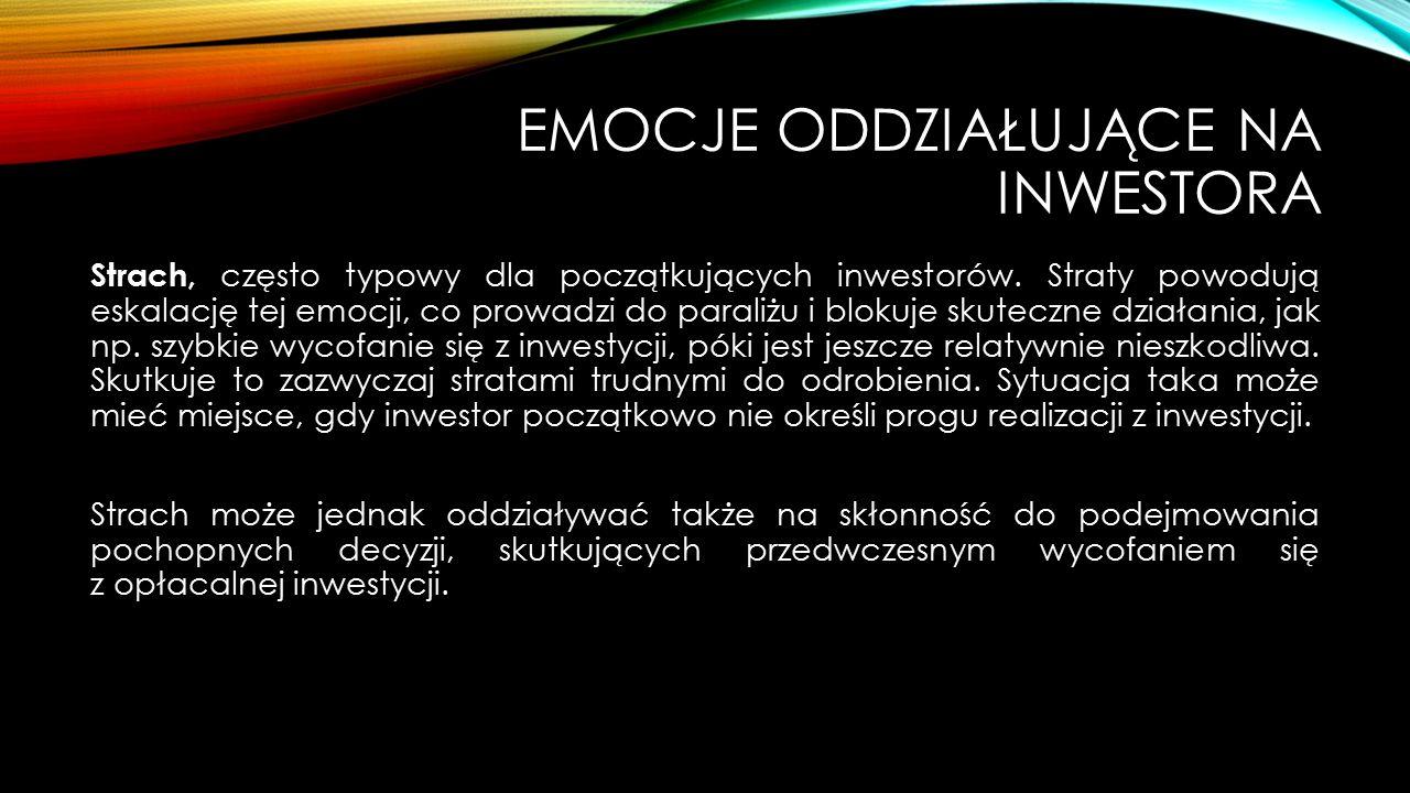 Emocje oddziałujące na inwestora