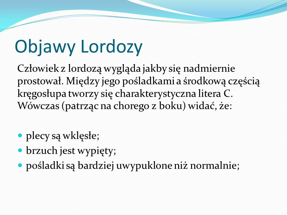 Objawy Lordozy