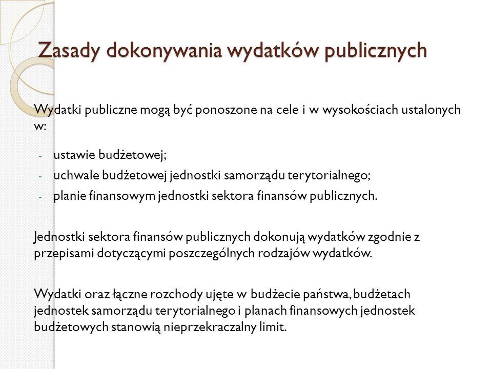 Zasady dokonywania wydatków publicznych