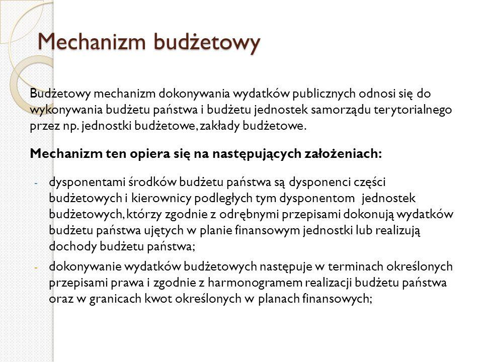 Mechanizm budżetowy