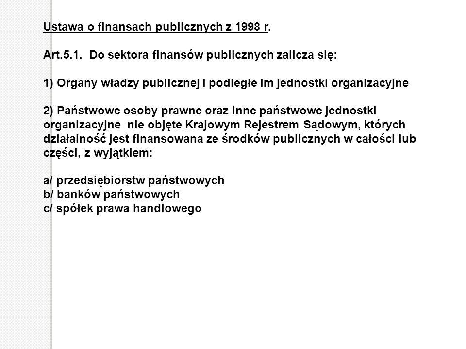 Ustawa o finansach publicznych z 1998 r.